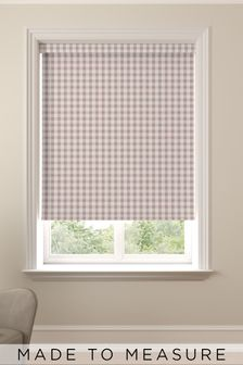 Gingham Rose Pink Made To Measure Roller Blind