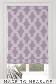Kendrick Mauve Purple Made To Measure Roman Blind