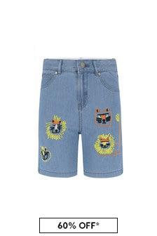 Stella McCartney Kids Boys Blue Cotton Shorts