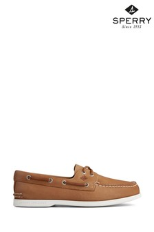 Sperry Tan Authentic Original PLUSHWAVE Washable Boat Shoes