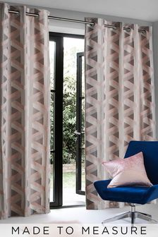 Optical Geo Jacquard Made To Measure Curtains