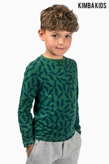 Kimba Kids by Kimberley Walsh Green All Over Print Long Sleeve Top