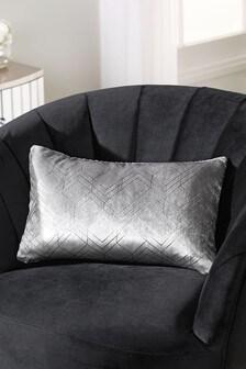 Metallic Velvet Geo Rectangle Cushion