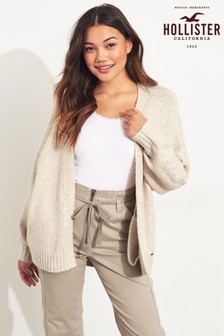 Hollister Oatmeal Cable Cardigan