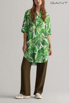 GANT Foliage Green Palm Breeze Tunic Dress