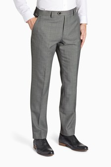 Wool Blend Machine Washable Suit: Trousers