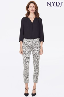 NYDJ Animal Print Pull-On Skinny Ankle Trousers