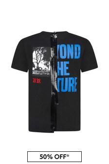 Diesel Black Cotton T-Shirt