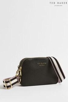 Ted Baker Black Amerrah Branded Webbing Strap Camera Bag