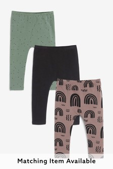 3 Pack Sueded Leggings (3mths-7yrs)