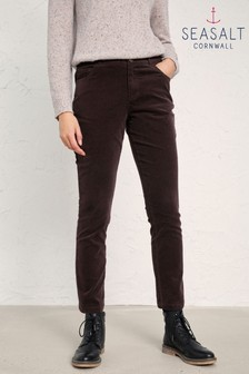 Seasalt Brown Lamledra Trousers Bitter Cocoa