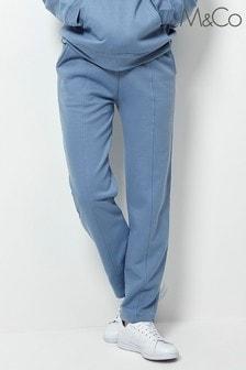 M&Co Blue Straight Leg Joggers
