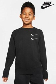 Nike Black Swoosh Crew Sweater