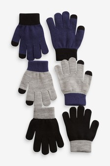 3 Pack Knitted Gloves (3-16yrs)