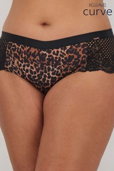 Figleaves Curve Madame Animal Print Suspender Briefs