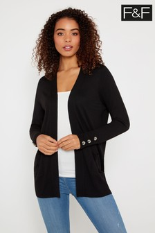 F&F Black Klosters Button Cardigan