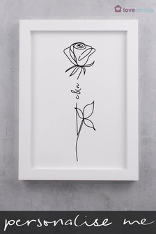 Personalised Rose Wedding Print by Loveabode