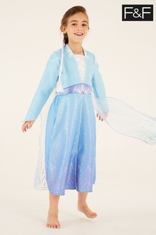 F&F Frozen 2 Elsa Blue Dress Up