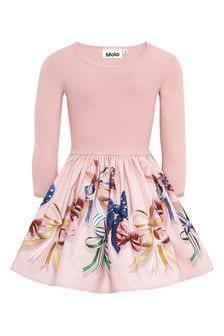 Molo Girls Pink Cotton Dress