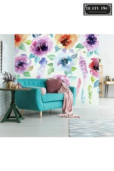 Eighty Two Watercolour Floral Mural