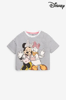 License Sequin Minnie & Daisy Stripe T-Shirt (3-16yrs)