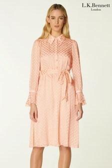 L.K.Bennett Pink Campbell Dress
