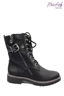 Blowfish Black Rauly Vegan Combat Boots