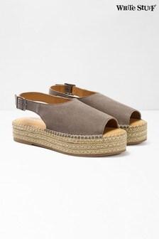 White Stuff Roxanne Peeptoe-Schuhe mit Plateausohle, Grau