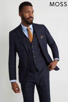 Moss 1851 Tailored Fit Navy/Black Check Jacket