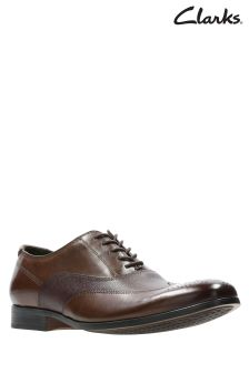 Clarks Tan Gilmore Wing Brogue Shoe