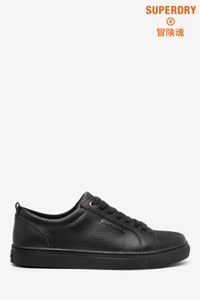 Superdry Black Leather Trainers