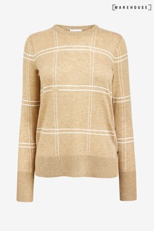 Warehouse Camel Check Button Side Jumper