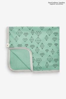 Turtledove London Green Crystals Blanket