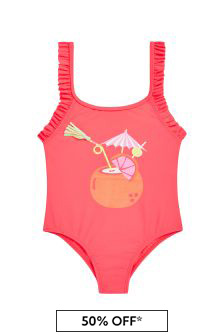 Billie Blush Girls Pink Swimsuit
