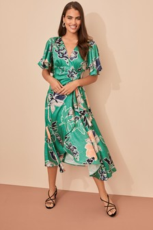 Occasion Midi Jacquard Dress