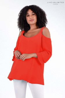 Live Unlimited Red Bardot Top