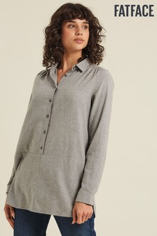 FatFace Grey Tilly Marl Longline Top