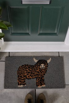 Hamish The Highland Cow Doormat