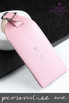 Personalised Leather Luggage Tag by Treat Republic