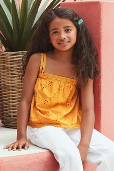 Pineapple Broderie Vest (3-16yrs)