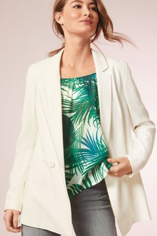 Double Breasted Relaxed Suit Jacket