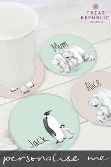Personalised Glass Coasters by Treat Republic