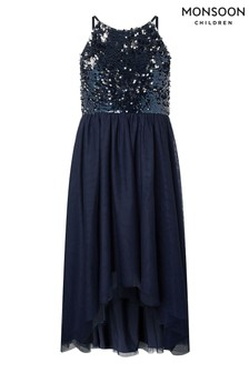 Monsoon Blue Saskia Two Way Sequin Prom Dress