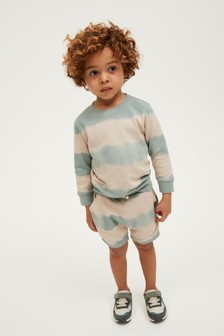 Tie Dye Jersey Crew And Shorts Set (3mths-7yrs)