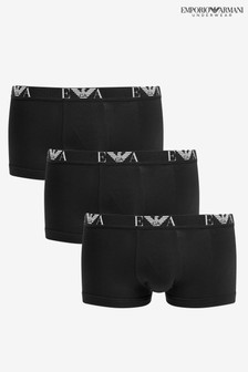 Emporio Armani Black Eagle Band Briefs Three Pack