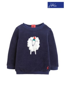 Joules Blue Billy Textured Sweatshirt