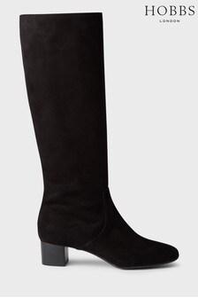 Hobbs Black Sadie Knee Boots