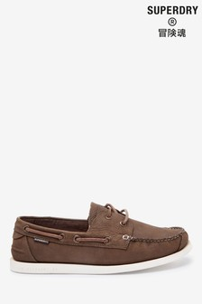 Superdry Tan Boat Shoes