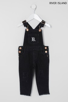 River Island Black Washed Jumpsuit