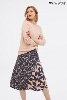 White Stuff Pink Hidden Tiger Skirt